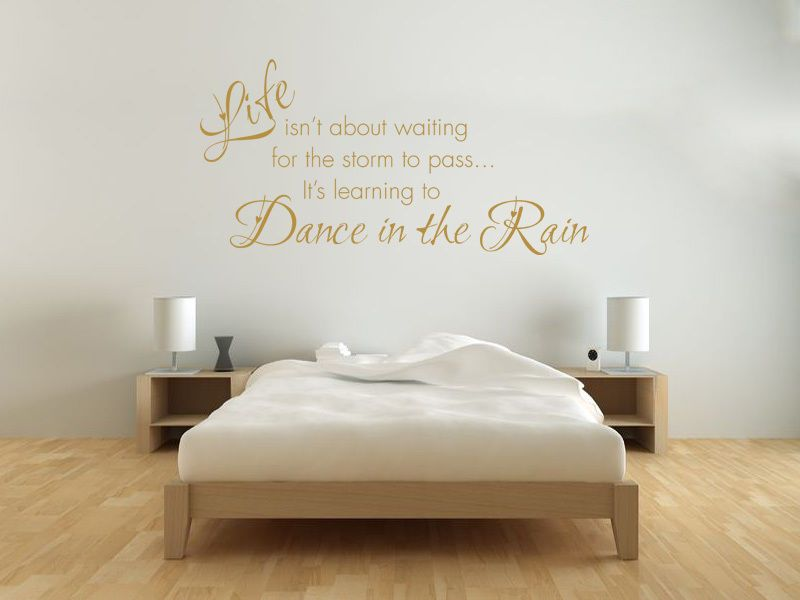 Learning To Dance In The Rain Wall Art Quote Sticker Decal